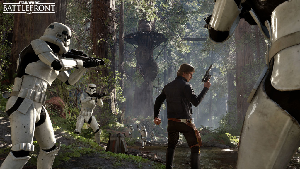 Star Wars Battlefront Han Solo Endor