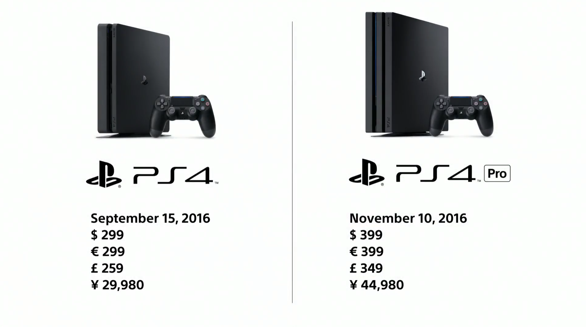PS4 Pro & Slim